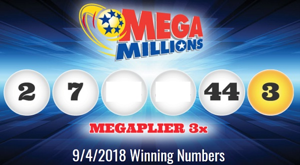 Mega Millions Winning Numbers September 4 2018