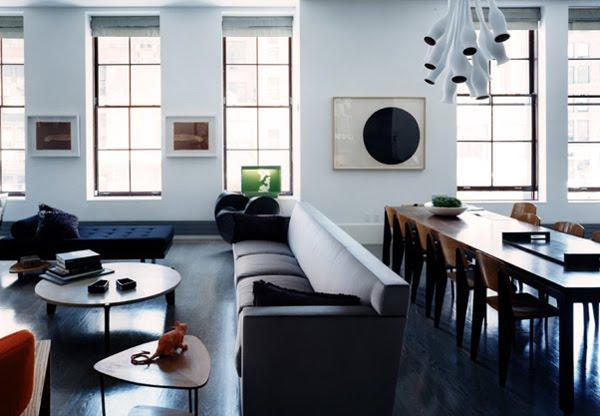 47 Park Avenue White Painted Floors Black Painted Floors