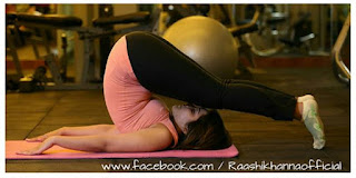 Raashi Khanna doing Yoga in Tank Top and Black Yoga Pants