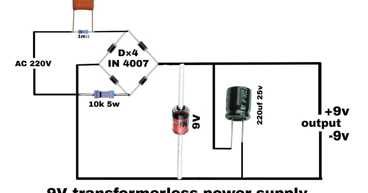 Electronics Project  Transformerless Power Supply Circuit