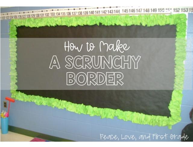 How to make a scrunchy border