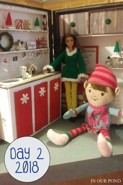 Elf on the Shelf house // In Our Pond // DIY // crafts // barbie fashion // barbie crafts // dollhouse crafts