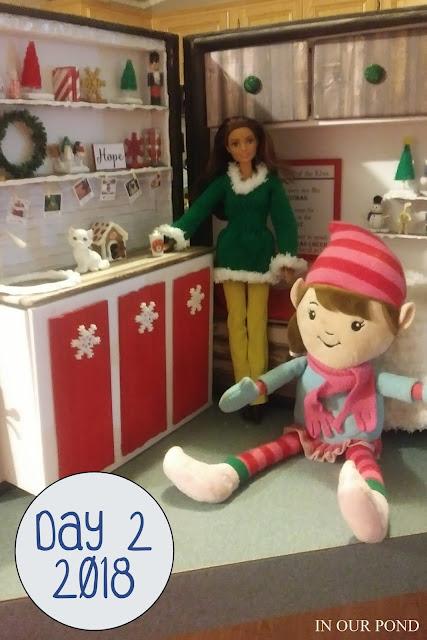 Elf on the Shelf house // In Our Pond // DIY // crafts // barbie fashion // barbie crafts // dollhouse crafts