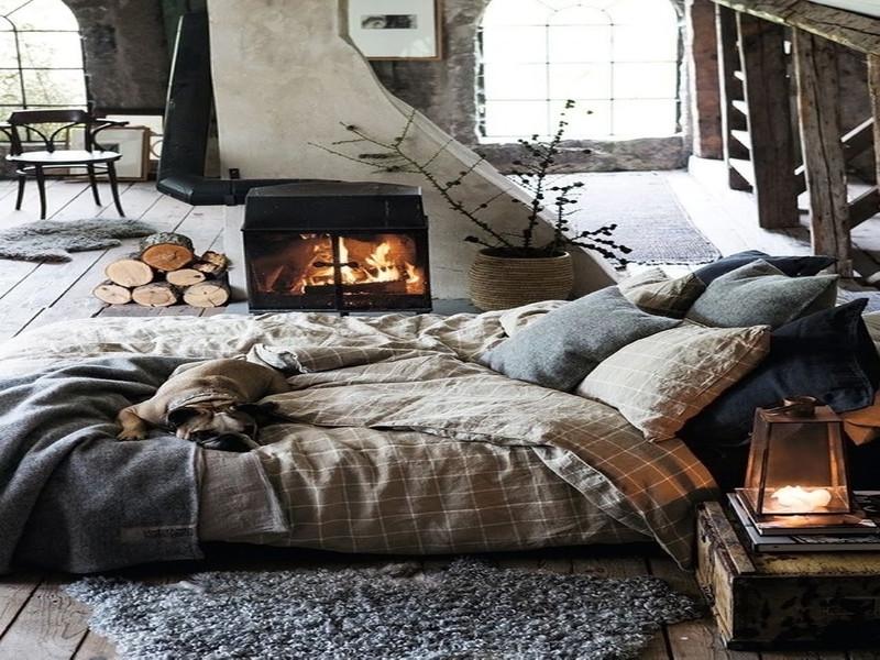 cama en el suelo
