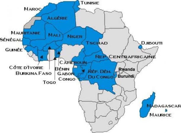 Carte De Lafrique Francophone.Afrique Francophone Qu Est Ce Que L Afrique Francophone