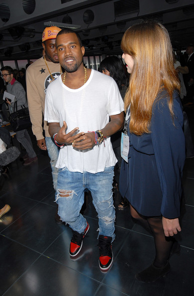 297c52a5ebb6 Kanye West - Celebrities On The Front Row at London Fashion Week  SpringSummer 2012