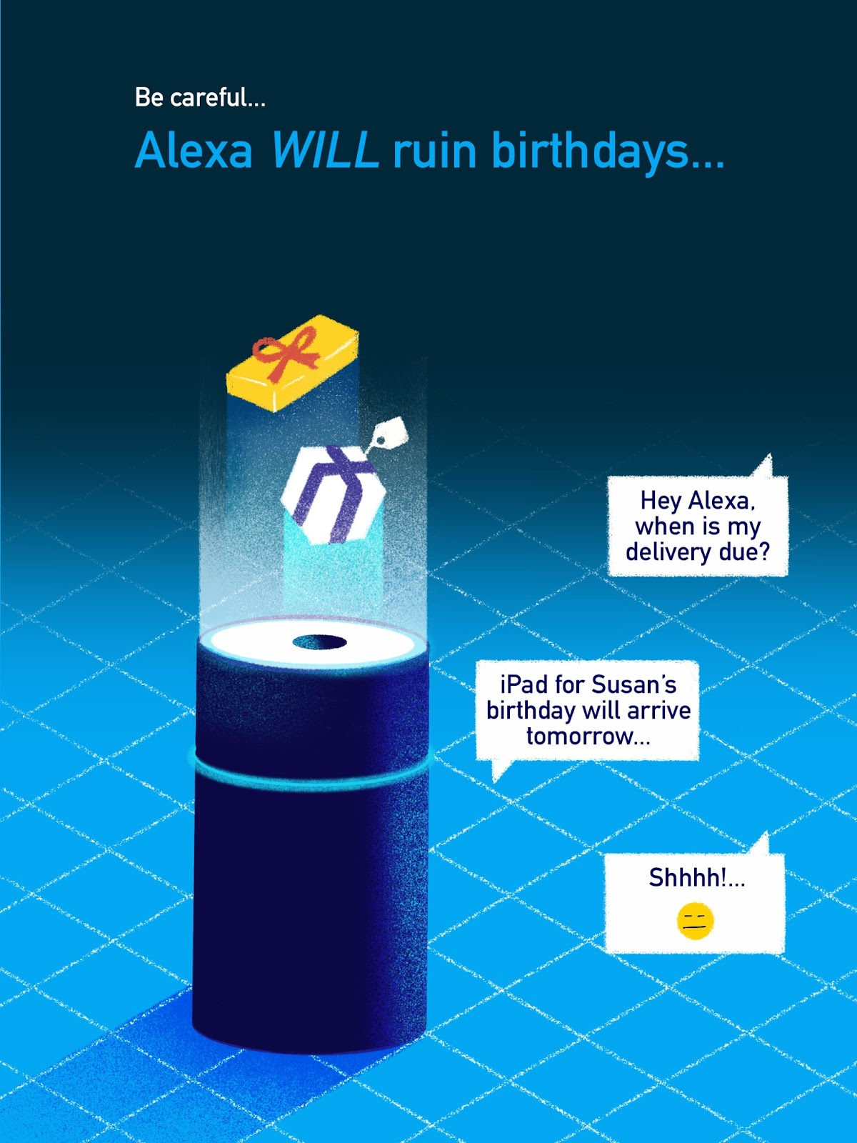Alexa Can Ruin Birthday Surprises