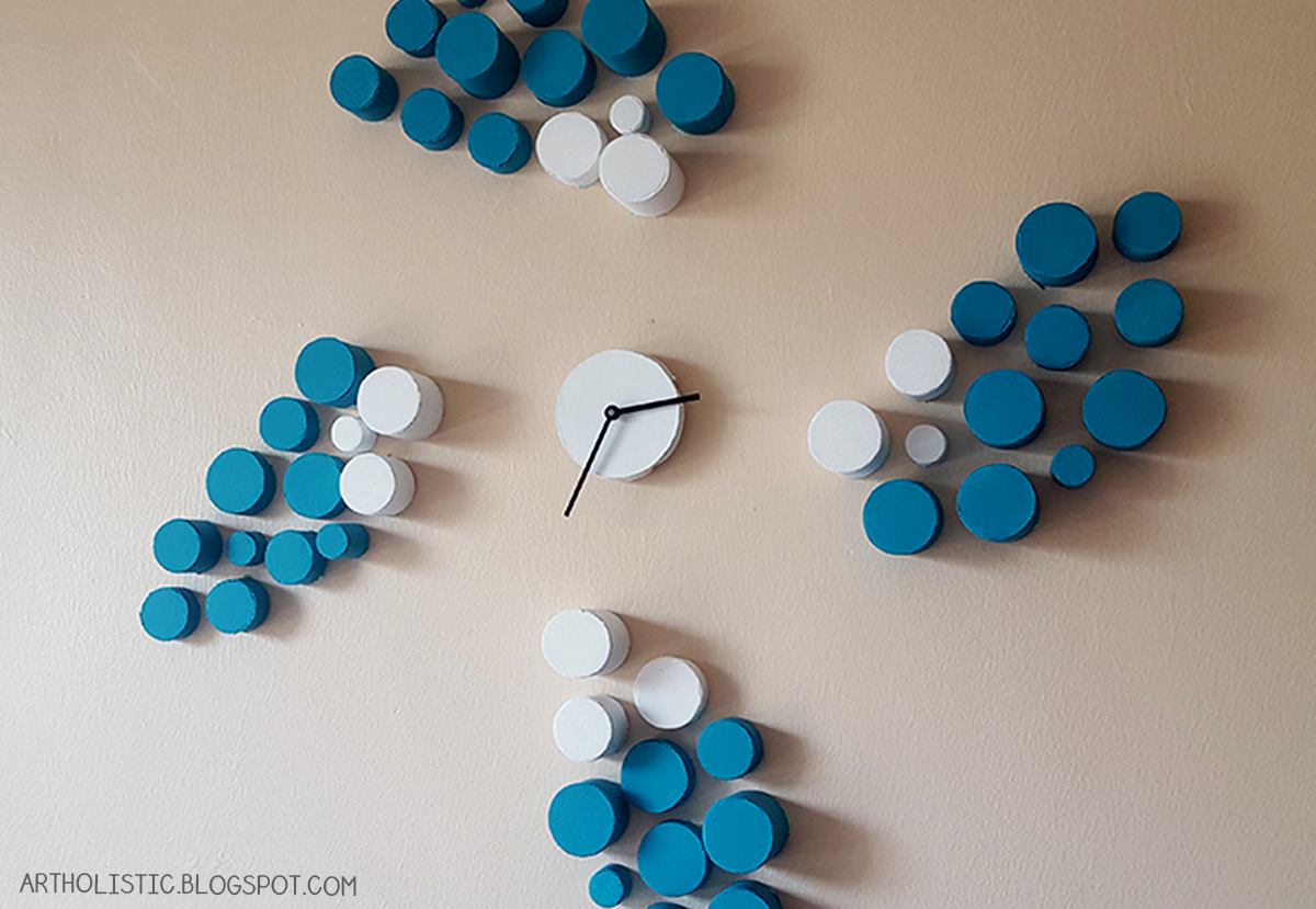 Art Holistic: Make a Wall Clock using Toilet Paper Rolls