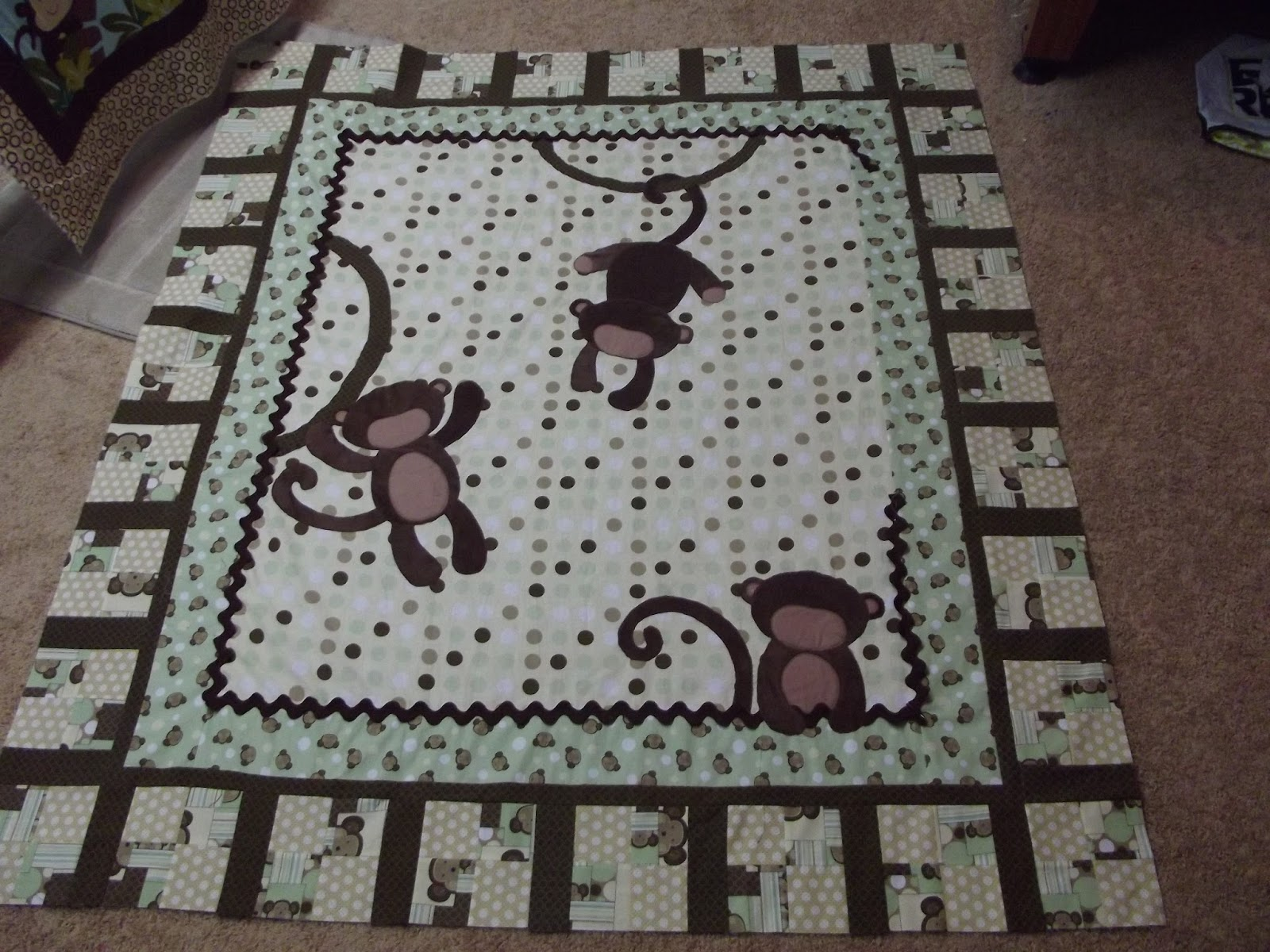 Monkeys Baby Quilt And More