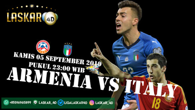 Prediksi Pertandingan Armenia Vs Italy 05 September 2019