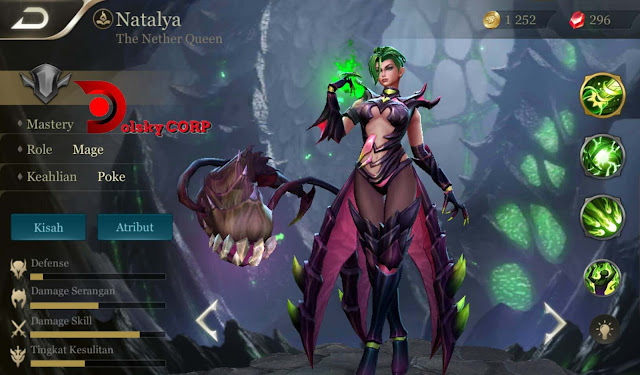 Arena of Valor : Hero Natalya ( The Nether Queen ) High Damage Builds Set up Gear