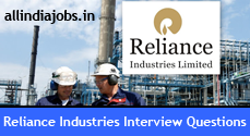 Reliance Industries Interview Questions
