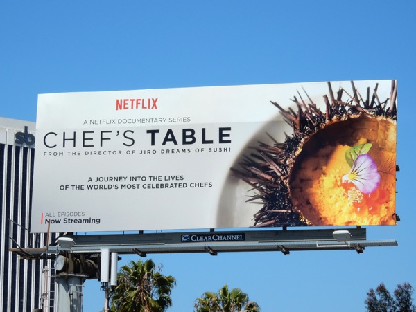 Chefs Table series premiere billboard