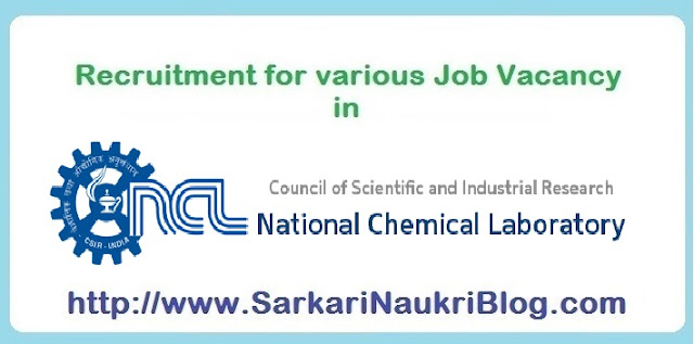 Naukri  Job vacancy positions in CSIR NCL