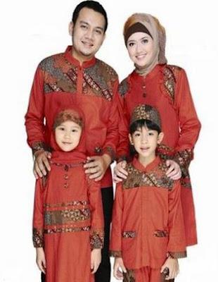 Style baju keluarga model batik muslim