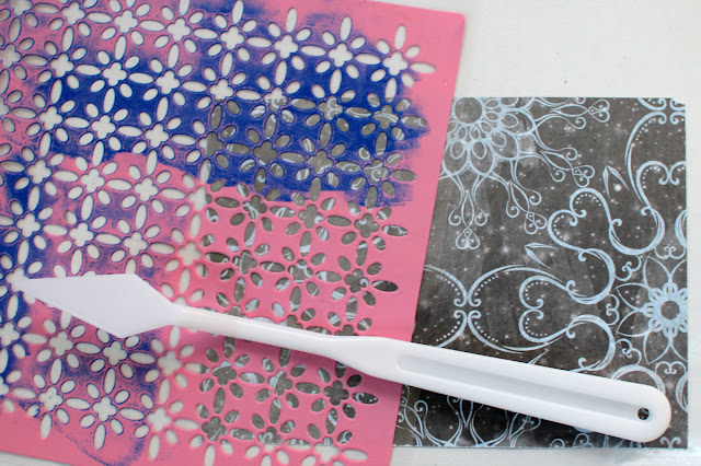 Silver Foil Tutorial Cards by Ilene Tell using BoBunny Whiteout Collection