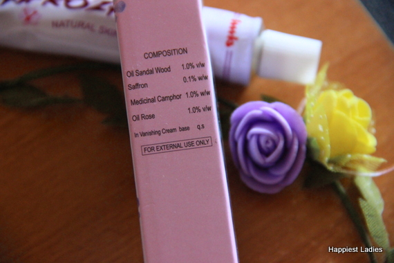 Safrozan skin cream ingredients