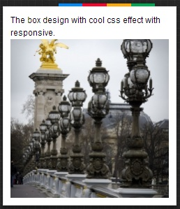 design box with cool effect