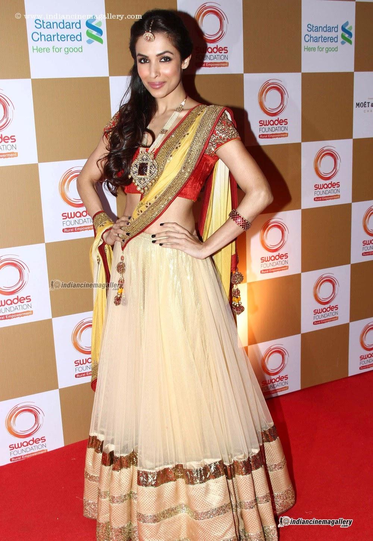 Malaika Arora Khan Sexy Saree Hot Body Figure 2014  Hot -3088
