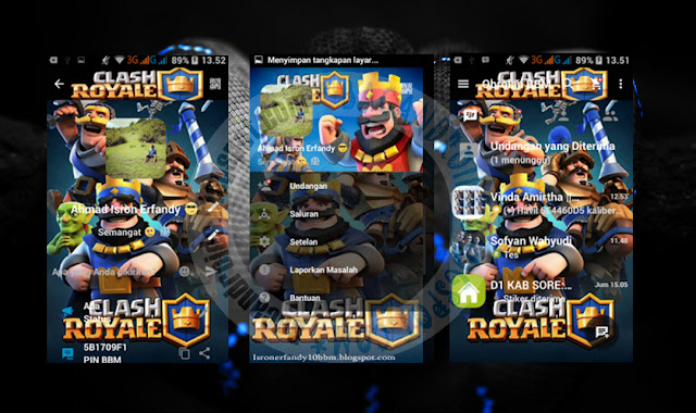 download BBM Mod Terbaru V2.13.0.26 Thema Clash Royale Apk