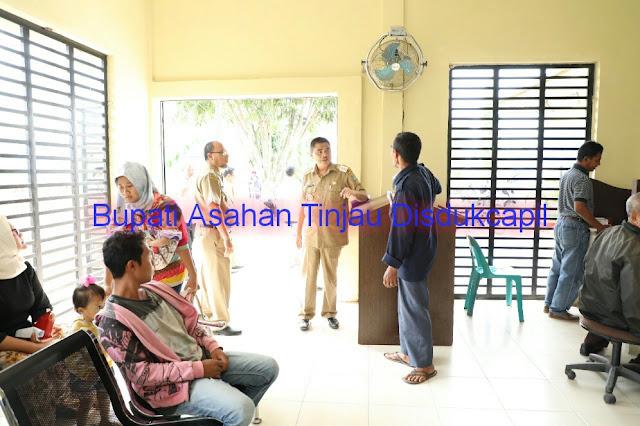 Bupati Asahan Taufan Gama Simatupang mengatakan meninjau Disdukcapil.