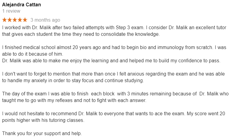 BEST USMLE TUTOR : USMLE TUTORING STUDENT REVIEWS