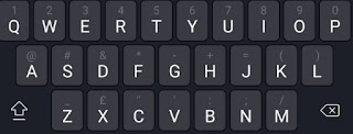 Android black Keyboard