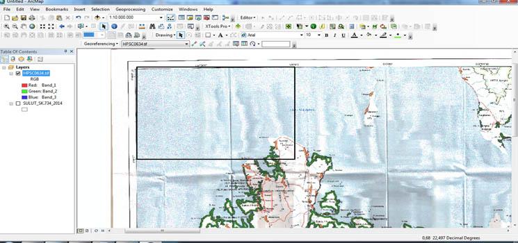 georeferensi peta