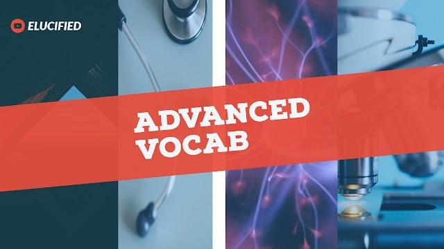Advanced vocab 01