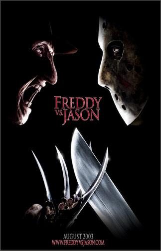 Poster Of Freddy Vs Jason 2003 720p Hindi BRRip Dual Audio Full Movie Download
