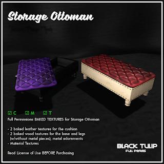 Textures - Storage Ottoman