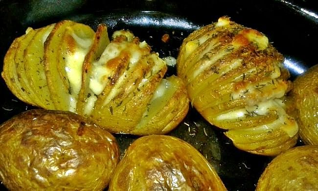 patatas hasselback, recetas fáciles con patatas