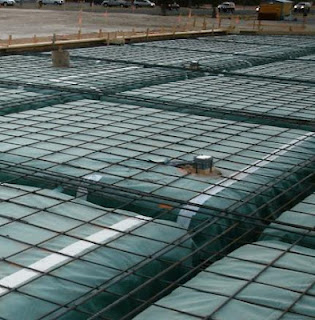 Raft foundation with Inverted Foundation beam