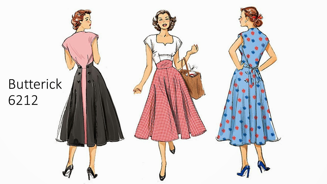 bb844f00762b New retro sewing pattern Butterick 6212 is a super cute 1950's style  popover, or pullover dress pattern destined to become a popular model this  summer.