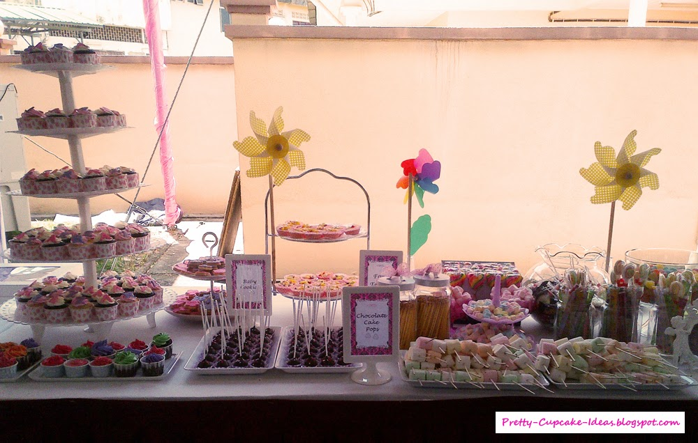 Pretty Cupcake Ideas: Baby Shower Dessert Table