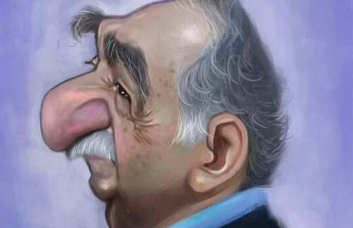 Líneas y Letras, Gabriel García Márquez, caricatura por Hevert Gabriel Benítez Estepa
