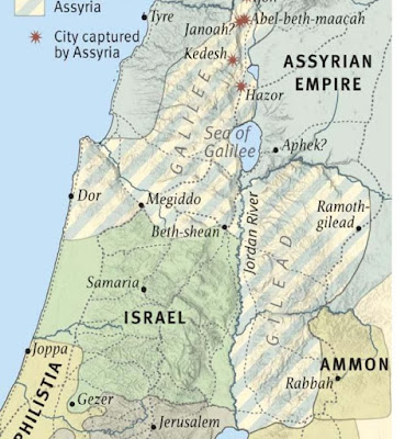 A  CONQUISTA DA ASSÍRIA SOBRE O NORTE DE ISRAEL EM 733 AC