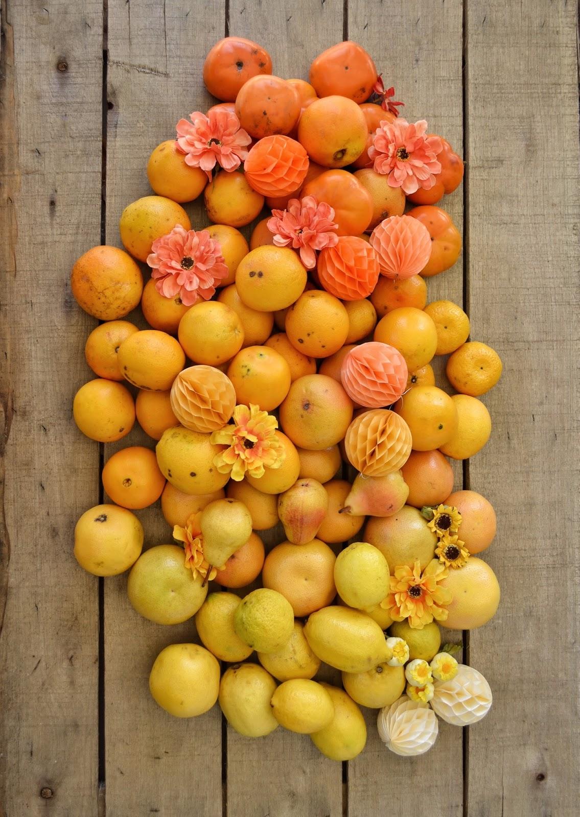 Los colores en la comida - naranja para #colorsoloparami