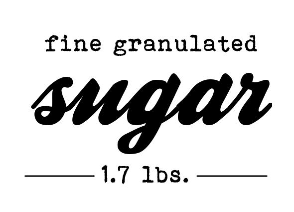 Freebie Printable Vorratsgläser Etiketten Zucker