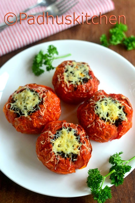 Quinoa Stuffed Tomatoes-Baked Tomatoes with Black Quinoa,Corn