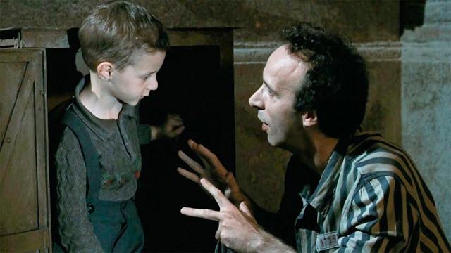Instante de La vida es bella (1997), ganadora del Oscar a la mejor película extranjera