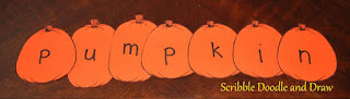 Halloween literacy activity for kindergarten making words with pumpkins