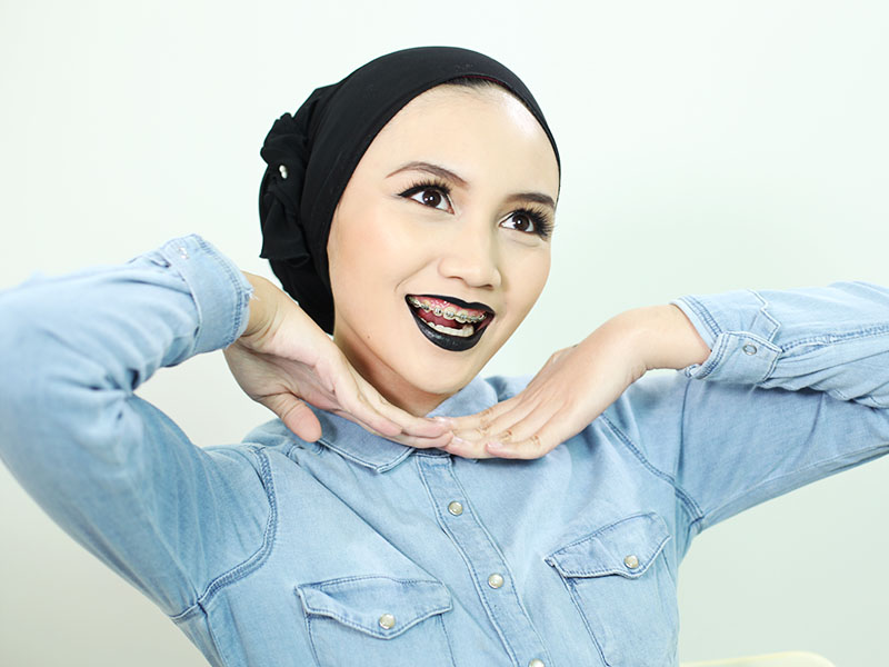 Bash Harry Brunei Beauty, Fashion, Life & Style Blogger wearing NYX Macaron Lippie in Chambord