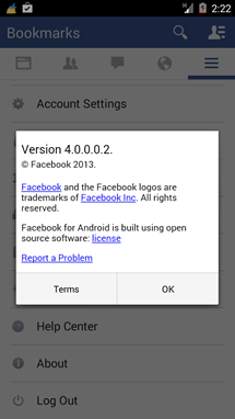 Facebook 4.0 Test Build