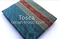 Kain Tenun Baron | 1dimensi| Warna Hijau Tosca | Kombinasi Kuning