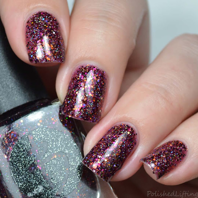 autumn glitter nail polish