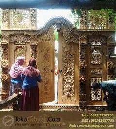 Gebyok Jati Jepara Pintu Ukiran Tempel