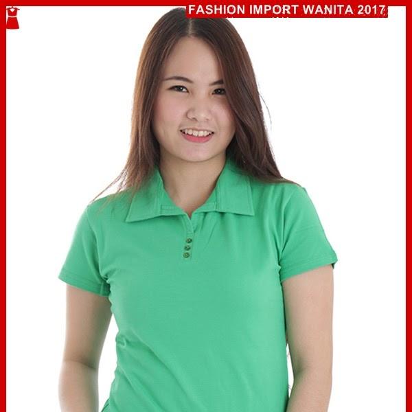 ADR156 Kaos Muda Hijau Polo Wanita Import BMGShop