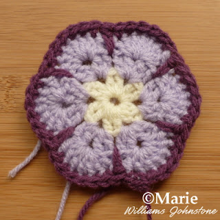 Lilac and purple crochet design