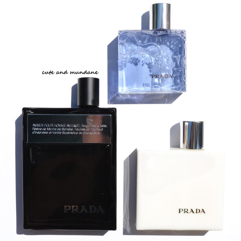 ada2e82b7dd0 Cute and Mundane  Prada Amber Pour Homme Intense fragrance set (2013 ...